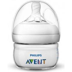 Biberon Natural pentru hranire Philips Avent SCF039/17, 60 ml (Alb)