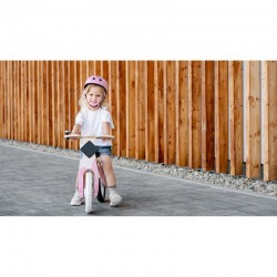 Lionelo - Bicicleta din lemn fara pedale Willy, Bubblegum