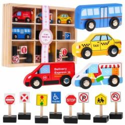 Set de 4 indicatoare pentru vehicule din lemn Ramiz ZDR.SAWT18166